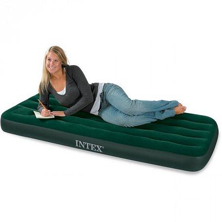 Надувной матрас Downy Junior Bed (76 x 191, встроенный насос), Intex 66950