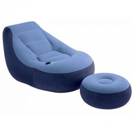 Надувное кресло с пуфиком, Intex 68561