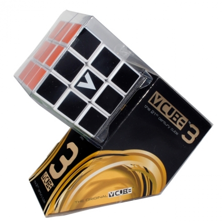 Кубик Рубика V3 с белой основой, плоский (V-CUBE 3White)