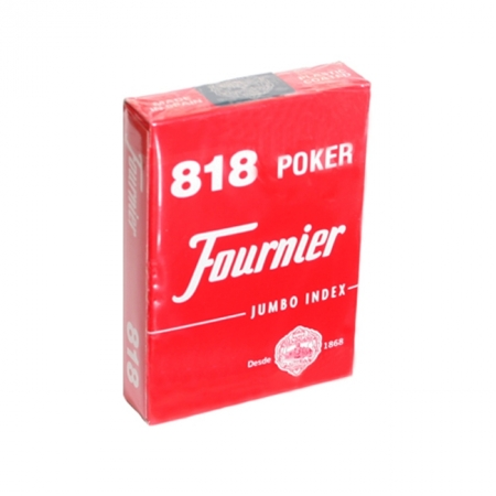 Карты для покера Fournier №818, 2 Jumbo Index Red, 21643red