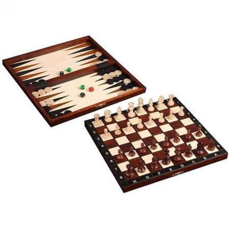 Нарды и шахматы Туристические, 27 см, 2068