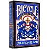 Карты Bicycle Dragon Back Blue, 1023554blue