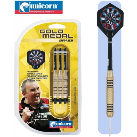 Дротики Unicorn GOLD MEDAL Phil Taylor brass steeltip 30 g