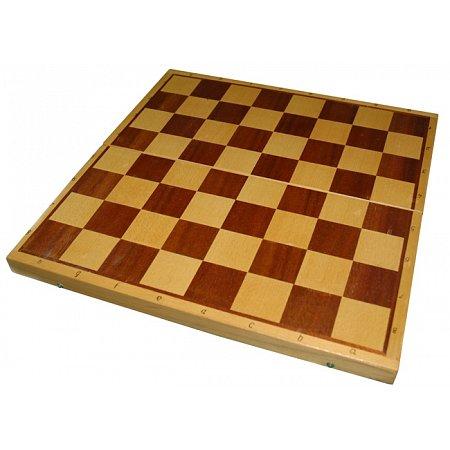 Шахматная доска СССР 50x50 см (дерево, интарсия, внутри поле для нард)
