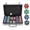 Покерный набор на 200 фишек с номиналом в кейсе. 11,5g-chips