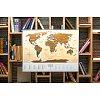 Скретч-карта мира Travel Map Gold New Original (на украинском)