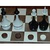Шахматы + нарды 40 х 40 см, пластик (пр-во Киев)