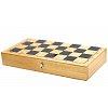 Деревянная шахматная доска складная, 36 x 36 см