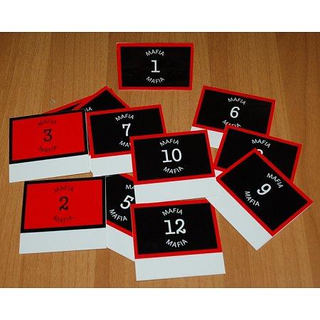 Номерки для Мафии, картонные, двусторонние, 12 шт