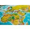 Скретч карта мира My Vintage Map (укр. язык, рельеф)