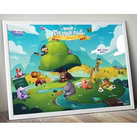 """Детский плакат """"Мой первый год"""" от mot1ve.me"""