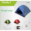 Палатка KingCamp Family 3 (KT3073) Red (мест: 3)