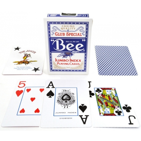 Карты Bee Jumbo Index Blue, 1001770blue