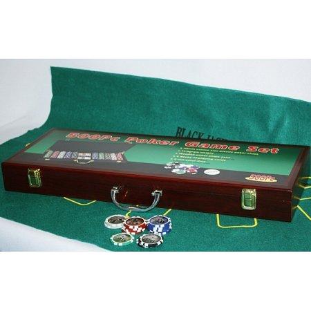 Покерный набор на 500 фишек c номиналом 1-100. 11,5g-chips