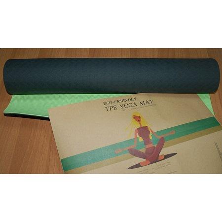 Йога-мат Эко-4, полиэстер + хлопок, 4 мм, 175 x 61 см