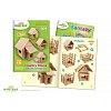 Деревянный конструктор Загородный дом 4в1, 146 деталей