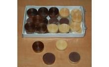 Шашки деревянные, 27 мм