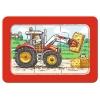 Экскаваторы, тракторы, прицепы, мои первые пазлы, 3 в 1, Ravensburger (06573R)