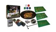 Изображение - Мини-казино с рулеткой 5 игр в 1 (рулетка, карты, поле, 100 фишек с номиналом)