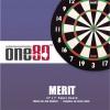 Набор для игры в дартс One80 Merit (мишень + 6 дротиков)