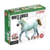 4D Master - Объемный пазл Белая лошадь (26458)