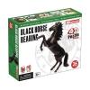 4D Master - Объемный пазл Скачущая черная лошадь (26523)
