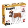 4D Master - Объемный пазл Собака Сенбернар (26490)