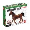 4D Master - Объемный пазл Темно-коричневая лошадь (26482)