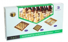 Набор из 3 игр (шахматы, нарды, шашки). 30 х 30 см. W3015