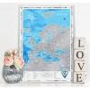 Скретч-карта Европы Discovery Map Europe (англ. язык, рельеф)