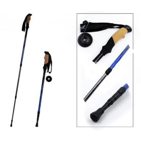 Треккинговая палка для скандинавской ходьбы (4 сложения, 55-135 см)