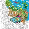 """Плакат-раскраска """"Диноленд"""" от ОKroshka (84 x 60 см)"""