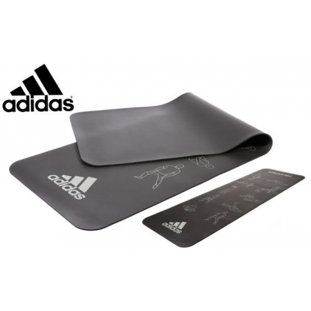 Коврик для фитнеса Adidas, черный 183 x 61 см x 6 мм, ADMT-12237