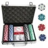 Покерный набор на 200 фишек с номиналом в кейсе. УЦЕНКА