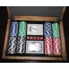 Покерный набор на 200 фишек без номинала в дубовом кейсе. 11,5g-chips