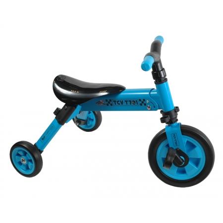 Велосипед складной трёхколёсный 2в1 (синий), TCV T701 (B)
