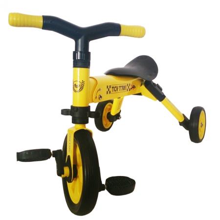 Велосипед складной трёхколёсный 2в1 (желтый), TCV T701 (Y)
