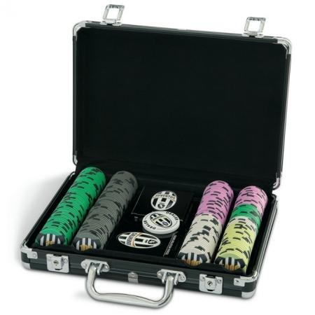 Покерный набор на 200 фишек с номиналом 25-5000, Juventus Poker Lux Set 200. 14g-chips