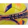 Мяч футбольный №5 PU ламин. ZEL ZEL-01-2 желтый-оранжевый-фиолетовый (№5, 5 сл., сшит вручную)