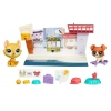 Игровой набор кафе с фигурками Hansamu Inu и Buster Boodles, Pet Tales, Littlest Pet Shop, Hansamu Inu & Buster Boodles, кафе, B4482-1
