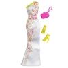 Белое длинное вечернее платье с узором и аксессуары, Barbie, Mattel, белое длинное платье с узором, CFX92-1