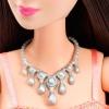 Кукла Барби Блестящая в светло-розовом платье, Barbie, Mattel, Светло-розовый, брюнетка, T7580-4