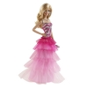 Кукла Барби в вечернем розовом пышном платье, Barbie, Mattel, Пышное платье, BFW16-2
