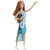 Кукла Барби Модница, в бирюзовом платье Glam Team 84, Barbie, Matell, бирюзовое платье glam taem 84, DGY54-5