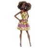 Кукла Барби Модница, в желтом платье, Barbie, Matell, темная кожа, желтое платье с принтом, DGY54-1