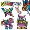 6 фломастеров и объемные модели, набор Забавные животные, серии Blendy pens, Renart, BP1008UK(UA)