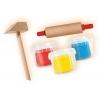 Юный мастер - незасыхающая масса для лепки, серия My first (3 цвета, инструмент), SES, 14411S