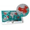 Скретч-карта мира Travel Map Marine World (на английском)