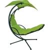 Подвесное кресло DREAM зеленый с навесом от солнца, Garden4You 10023