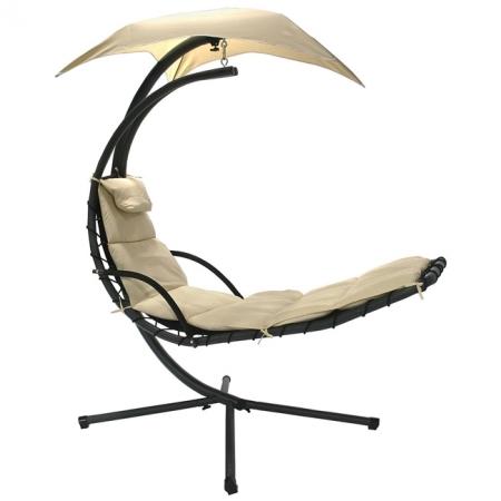Подвесное кресло DREAM бежевый с навесом от солнца, Garden4You 10024